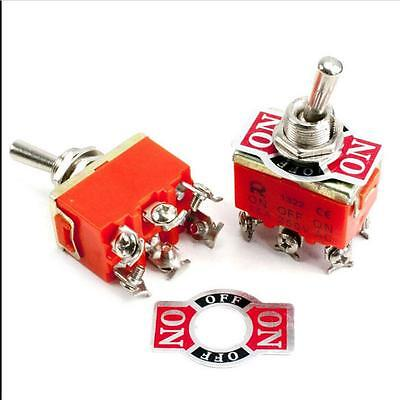 6-Pin Toggle DPDT ON-ON Switch 15A 250V Mini Switches PL