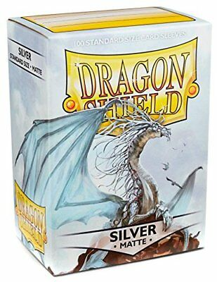 Dragon Shield Matte Silver 100 Deck Protective Sleeves Standard Size