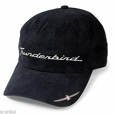 Rare Brand New Official Black Ford Thunderbird Classic Emblem Shadow Hat/cap!
