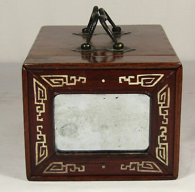 Chinese Campaign Rosewood Box, Jewelry Or Vanity, 18Th/19Th C., Export