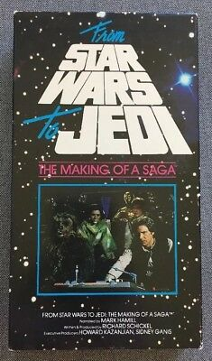 """Vintage """"Star Wars to Jedi - The Making of a Saga"""" VHS Video tape"""