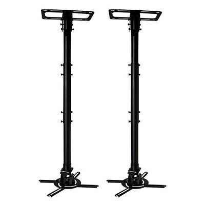 """2 Pcs 360 Adjustable Ceiling Mount Bracket For Projector 26"""" ~ 36"""" Long 50lbs"""