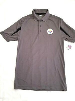 781f30bb7 NFL Pittsburgh Steelers Mens Short Sleeve TX3 Cool Polo Shirt Small Gray NEW