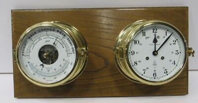 Vintage Schatz Royal Mariner Ship Clock and Barometer