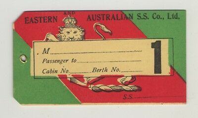 Eastern And Australian S.S. Co., LTD (Vintage 1st Class Shipping Line Luggage Ta
