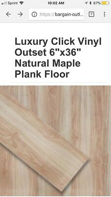 Barely Used LVP flooring... natural maple 1,000 sq ft