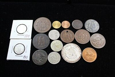 Mexico 17 assorted coins   lot H 978