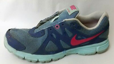 8bec0151ec Nike Revolution 2 Girls 4 Youth Running Shoes 555090-504 Blue Pink Navy  Sneakers
