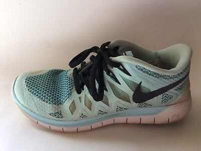 5c301f636703 Nike Free Run 5.0 Iceberg Blue White 642199 402 Women 7.5 M Sneaker Running  Shoe