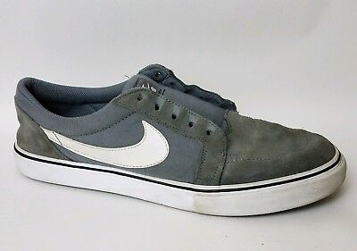 uk availability 73338 f31df NIKE SB SATIRE II Mens 8.5 M 729809 010 Gray Canvas Shoes Leather Sneakers  Skate