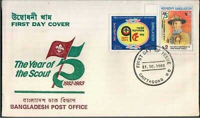 Bangladesh Mnh Fdc First Day Cover The Year Of The Scout 1982 - 1983
