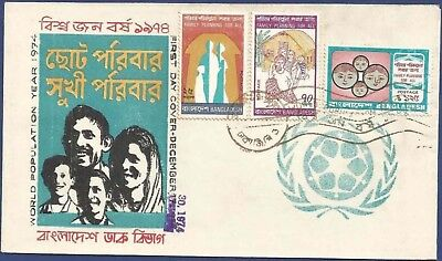 Bangladesh 1974 Mnh Fdc World Population Year Family Planning For All People