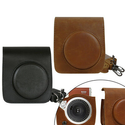 Camera Case Bag for Fujifilm Instax Mini 90 Camera - Black & Brown