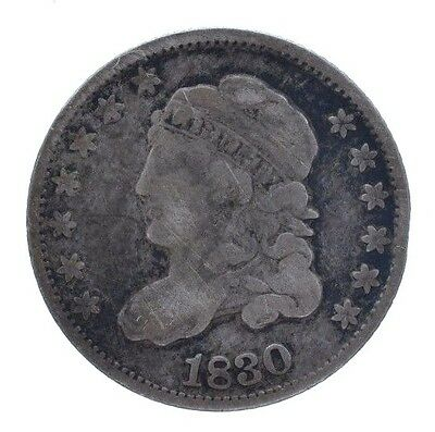 1830 Capped Bust Silver Half Dime 5 Cent 5c VF Very Fine Rare Date MAKE AN OFFER