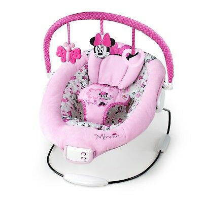 Baby Bouncer Rocking Chair Girl Rocker Swing New Born Cradle Minnie Mouse