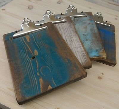 10 A4 Rustic Wooden Clip Board Hand Made Restaurant Cafe Pub