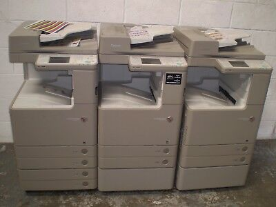 Three Canon IRC 2025 Colour Copiers. All tested and working.Ideal for Export