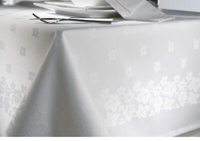 """White Ivy Leaf Table Linen/Table Cloth, 54"""" x 54"""", Christmas/wedding/occasions"""