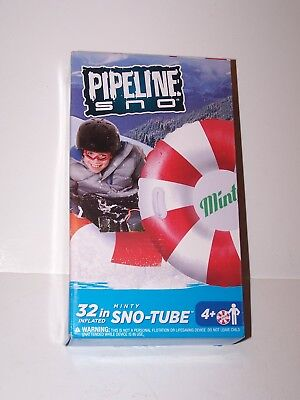NIP new Pipeline Sno Minty 32 in inflatable Sno-Tube Peppermint candy design