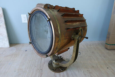 Vintage marine brass original seach light / marine spotlight / nautical light