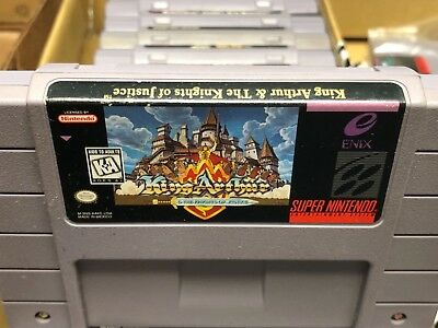 King Arthur and the Knights of Justice SNES Super Nintendo FREE SHIP Authentic