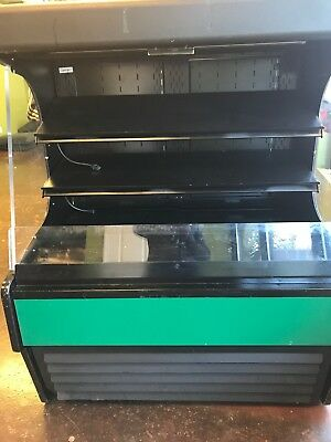 USED open faced pastry refrigerated case with lights in good condition