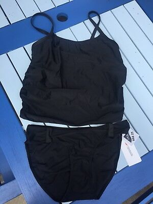 Speedo Black Maternity Tankini BNWT Size M/Medium