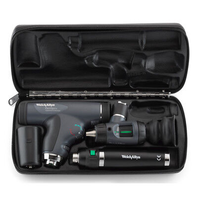 WELCH ALLYN 3.5v DIAGNOSTIC SET 11820 PANOPTIC OPHTHALMOSCOPE OTOSCOPE + CASE