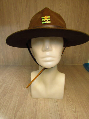 Vintage Boy Scouts Of America Official Hat Size 7 1/8 Leader Campaign BSA Press