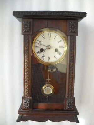 Rare German Antique Junghans Musical Clock In G.w.o.