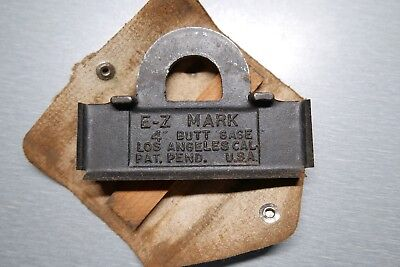 """Antique Hinge Template Made in US E-Z Mark 4"""""""