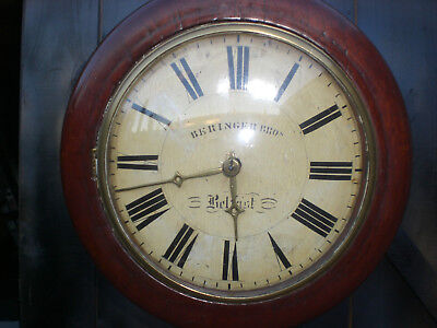 "19th Century Beringer Brothers Belfast Wag on the Wall"" Clock, For Restoration"