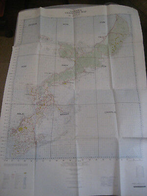 Okinawa Japan August 1963 Pilot Crash Grid Map