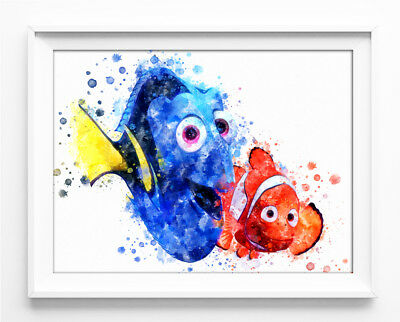 "Finding Nemo Poster Disney Finding Dory Print 33x47"" Nursery Room Wall Art P0317"