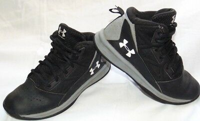 Youth Black & White UNDER ARMOUR Basketball Athletic Sneakers Shoes Sz 1 Y