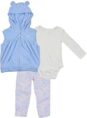 Outfits & Sets Carters Adorable 3 Piece Vest Fleece Set For Baby Girl Baby & Toddler Clothing 3 Months
