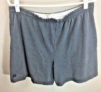vintage 70s russell athletic poly/cotton gym shorts made in USA Size XL VTG Rare