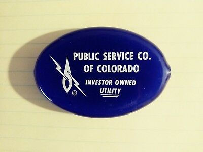Public Service Of Colorado Coin Purse, Blue With White Logo