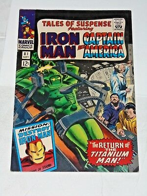 Tales Of Suspense #81 comic (VF) 1966, Iron Man