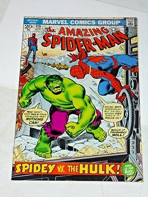 Amazing Spiderman #119 comic (VG+) Vs. Hulk John Romita art
