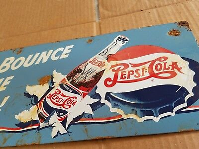 Pepsi Cola Porcelain Sign Soda Pop Cafe General Store Vintage Restaurant decor