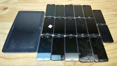 Mixed Lot of 18 Samsung Devices Test Failure / Fallout for PARTS OR REPAIR