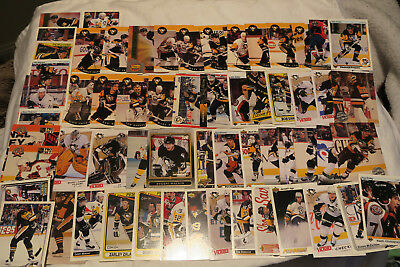 60 Nhl Pittsburgh Penguins All Different Ice Hockey Cards Lot (No Doubles)
