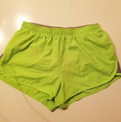 Womens Size Small Nike Dri Fit Athletic Shorts Neon