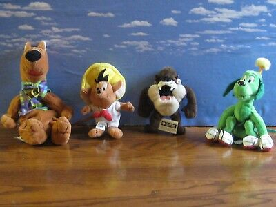 Speedy Gonzales Taz Scooby Green Dog Bean Bag Warner Bros Beanie Plush  Studio