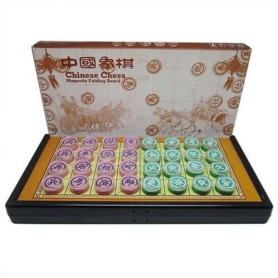 Traditional Colour Xiang Qi Chinese Chess Checker Game Travel Set W2016