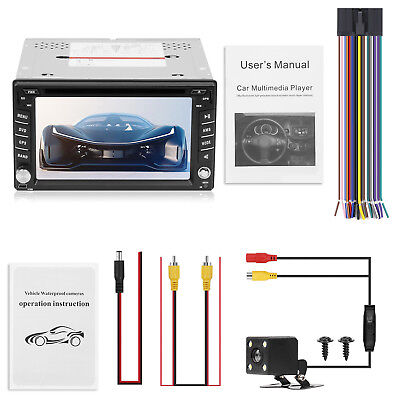 Doppel 2 Din Autoradio GPS Navi Navigation Bluetooth CD DVD USB SD Touchscreen