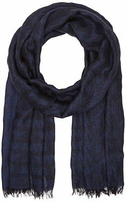 b9bc9e479907 NEW ARMANI JEANS Jacquard Cotton And Modal Scarf With All Over Logo ...
