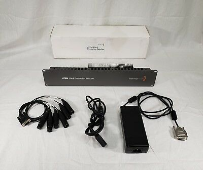 Used Blackmagic Design ATEM 1 M/E Production Switcher