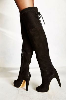 a47b5c243 NEW! SAM EDELMAN  Kayla  Over the Knee Boot Black Suede Size 10 M ...